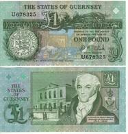 GUERNSEY    £ 1   D. M. CLARK   Sign.   P52c - Guernesey