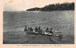 CPA NOUVELLES HEBRIDES - VANUATU - Pirogue De Guerre - îlot Toman - Vanuatu