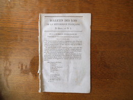 BULLETIN DES LOIS DE LA REPUBLIQUE FRANCAISE N° 1 DU 24 FEVRIER 1848 PROCLAMATION DU GOUVERNEMENT PROVISOIRE AU PEUPLE F - Décrets & Lois