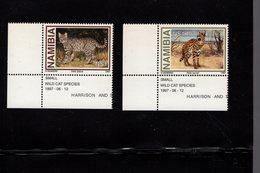 673670113 NAMIBIE  1997 POSTFRIS MINT NEVER HINGED POSTFRISCH EINWANDFREI SCOTT 825 828 SMALL WILD CATS - Namibie (1990- ...)