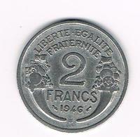 =&  FRANKRIJK 2 FRANCS 1946 B - France