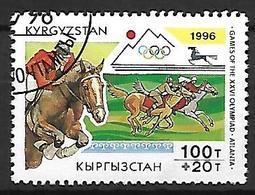 KIRGHIZSTAN     -   1996  .   Y&T N° 93 Oblitéré.  JO D' Atlanta  /  Equitation - Kirghizistan