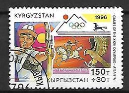 KIRGHIZSTAN     -   1996  .   Y&T N° 95 Oblitéré.  JO D' Atlanta  /  Tir à L' Arc - Kirghizistan