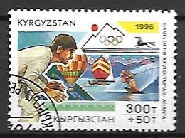 KIRGHIZSTAN     -   1996  .   Y&T N° 96 Oblitéré.  JO D' Atlanta  /  Judo - Kirghizistan