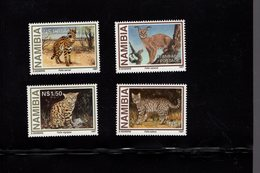 673671103 NAMIBIE  1997 POSTFRIS MINT NEVER HINGED POSTFRISCH EINWANDFREI SCOTT 825 828 SMALL WILD CATS - Namibie (1990- ...)