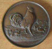 """Royaume-Uni - Médaille De Prix Agricole """"BOCM SILCOCK"""" European Poultry Faire 1976 En Bronze - United Kingdom"""