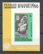 Mgm0548  SCHEEPVAART SCHIP SHIP * ONGETAND, IMPERF * INDONESIA 1966 PF/MNH - Maritiem