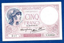 5 Francs Violet / 28-09-1939 / SUP - 1871-1952 Antichi Franchi Circolanti Nel XX Secolo