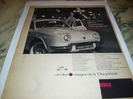 ANCIENNE PUBLICITE ELEGANTE VOITURE DAUPHINE  RENAULT 1959 - Voitures