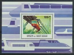Mua820 TRANSPORT TREINEN TRAIN ZUG FAHRZEUGE SCHWEBEBAHN WUPPERTAL GUINÉ-BISSAU 1984 PF/MNH - Treinen