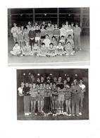 Photographie - Lot De 2 - AUXONNE 21 - SAISON 1985 - 1982 - Groupe Enfants Sportifs CADETS - Pull Raquette Tennis - Pompiers