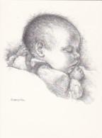 AN74 Children - Sleeping Baby By Spang Olsen - Artist Signed Postcard - Babies