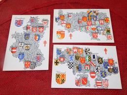 BELGIQUE - BELGIE  - Lot De 9 Cartes : Armoiries Provinces Belges - Wapens Der Belgische Provincien - Cartes Postales