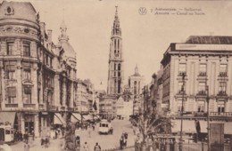 AN74 Antwerpen, Suikerrui - Animated, Shops, Trams - Antwerpen