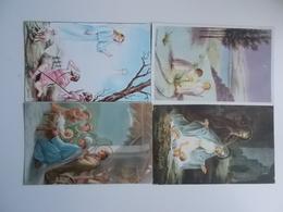 Lot 4 Vintage, Romantiek, Amitiès, Liefde, Amour, Begin 1900, Folklore, Wensen, Bloemen,  VROLIJK KERSTFEEST..... # 11 - Femmes