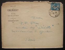 Ville De Chambéry Musée Des Beaux Arts Cabinet Du Conservateur (Savoie) - Marcophilie (Lettres)