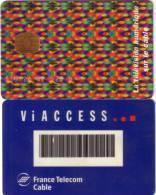 FRANCE CARTE A PUCE CHIP CARD TV TELEVISION FRANCE TELECOM CABLE AVEC N° CODE RECTO - Badge Di Eventi E Manifestazioni