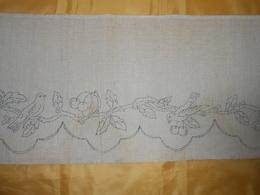 Devant De Cheminée - Tissu Lin Ou Toile Jute  à Broder -  2, 25  X 0,30 M - - Laces & Cloth