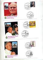 6 Lettre Cachet Visite Pape Jean Paul II à Voir - [7] République Fédérale