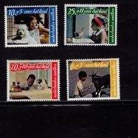 673691644 NETHERLANDS ANTILLES 1968 POSTFRIS MINT NEVER HINGED POSTFRISCH EINWANDFREI SCOTT B89 B92 CHILDREN ANIMALS - Antilles