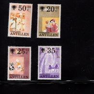 673693639 NETHERLANDS ANTILLES 1979 POSTFRIS MINT NEVER HINGED POSTFRISCH EINWANDFREI SCOTT B168 B171 CHILDREN ANIMALS - Antilles