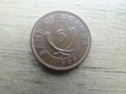Ouganda  5  Cents  1966  Km 1 - Uganda