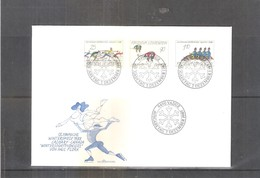JO 1988 Calgary - FDC Liechtenstein - Série Complète - Hiver 1988: Calgary