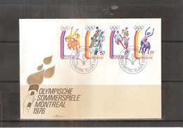 JO 1976 Montréal - FDC Liechtenstein - Série Complète - Ete 1976: Montréal