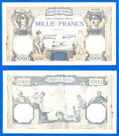 France 1000 Francs 1938 3 Novembre Prefix W Ceres Mercure Que Prix + Port Grand Billet Frcs Frc Paypal Skrill Bitcoin OK - 1 000 F 1927-1940 ''Cérès Et Mercure''