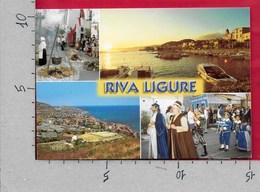 CARTOLINA VG ITALIA - RIVA LIGURE (IM) - Vedutine Multivue - 10 X 15 - ANN. 2001 CONFEDERAZIONE GENERALE AGRICOLTURA - Imperia