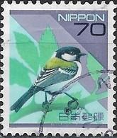JAPAN 1992 Fauna And Flora - 70y Great Tit FU - 1989-... Emperor Akihito (Heisei Era)