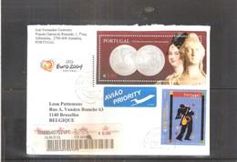 Belle Lettre Recommandée Du Portugal Vers La Belgique - 2003 (à Voir) - 1910-... République
