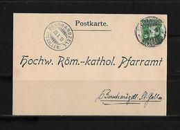 HEIMAT THURGAU → 1913 Postkarte Röm.-kathol.Pfarramt Steinebrunn Nach Bernhardzell - Suisse