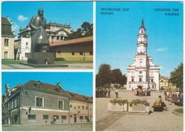 Kaunas - Maironio Paminklas, Senoji Pasto Stotis, Santuoky Rumai - (Litouwen) - Litouwen
