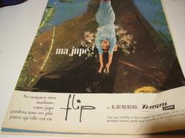 ANCIENNE PUBLICITE MA JUPE  LESUR 1958 - Habits & Linge D'époque