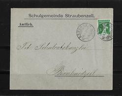 HEIMAT ST.GALLEN → 1913 Amtlicher Brief Schulgemeinde Straubenzell Nach Bruggen - Lettres & Documents