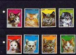 673709017 PARAGUAY 1976 POSTFRIS MINT NEVER HINGED POSTFRISCH EINWANDFREI SCOTT 1635A 1635H VARIOUS CATS - Paraguay
