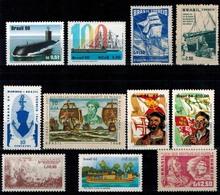 MVS-BK1-018 MINT ¤ BRASIL DIFF. YEARS 11w In Serie  ¤ VOILIERS - ZEILSCHEPEN - SAILING SHIPS OVER THE WORLD - Maritiem