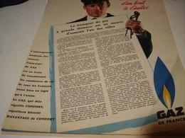 ANCIENNE AFFICHE  PUBLICITE GAZ DE FRANCE 1958 - Autres
