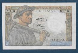 France - 10 F  Mineur  Du  4 - 12 - 1947 - 1871-1952 Gedurende De XXste In Omloop