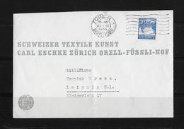 HEIMAT ZÜRICH → 1936 Schw.Textile Kunst Zürich Nach Leipzig DE - Suisse