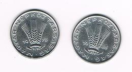 =&  HONGARIJE  2 X 20  FILLER  1978/88 - Hongrie