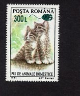 673710694 ROMANIA 2001 POSTFRIS MINT NEVER HINGED POSTFRISCH EINWANDFREI SCOTT  4468 CAT SURCHARGED 300L ON 90L - 1948-.... Républiques