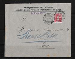 HEIMAT ZÜRICH → 1909 AG Der Verein. Schw. Portland-Cement-Fabriken ►in Liquidation◄ - Suisse