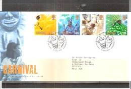 FDC Grande Bretagne - Carnival - 1998 - Série Complète - Carnaval