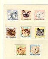 673711939 HUNGARY 1968 POSTFRIS MINT NEVER HINGED POSTFRISCH EINWANDFREI SCOTT  1880 1887 DOMESTIC CATS - Hongrie