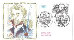 FDC Gustave Eiffel (Dijon 18 Dec 1982) - FDC