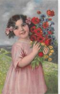 AK 0088  Blumenmädchen - Künstlerkarte Um 1914 - Abbildungen
