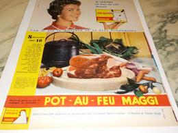 ANCIENNE PUBLICITE POT AU FEU MAGGI 1958 - Affiches