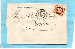 G.C. 2145 LYON Sur N°38-L.S.C. Du 7/5/76 - 1849-1876: Klassik